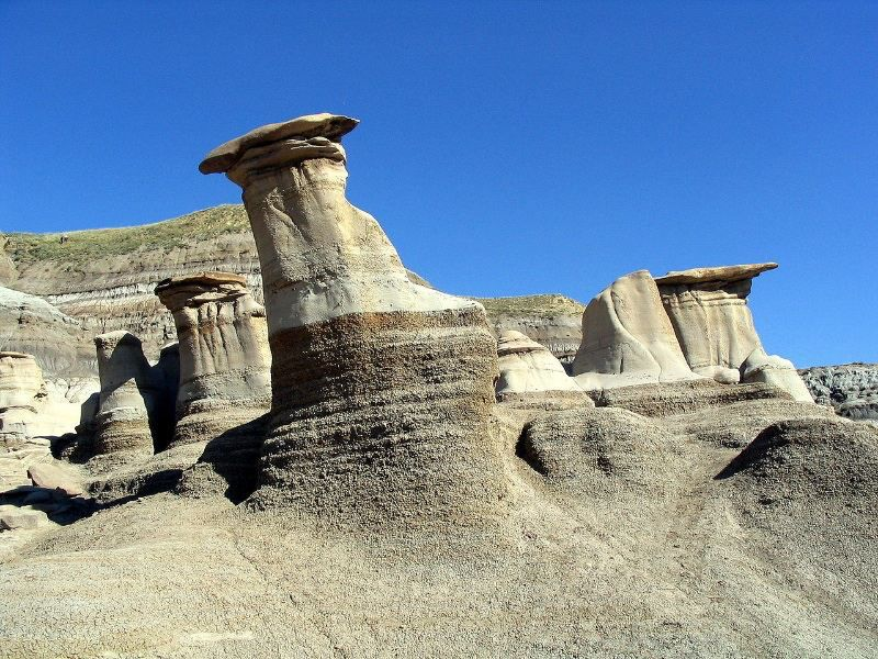 Guided Tours of the Drumheller, Large Hoodoos